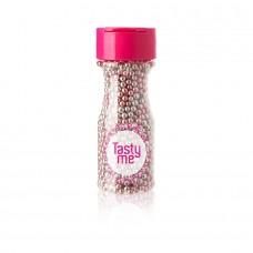 Suikerparels metallic zilver-roze 4mm