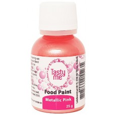 Food Paint Metallic Pink  25 gram (Tasty Me)