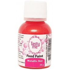 Food Paint Metallic Red 25 gram (Tasty Me)