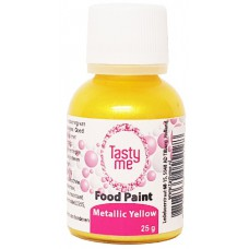 Food Paint Metallic Yellow 25 gram (Tasty Me)