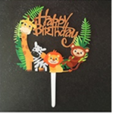 Cake topper Happy birthday animals