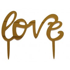 Cake topper Love goud